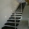 Quarter-turn staircase / stone steps / metal frame / with risers STAIR WITH STEPS AND RISER IN ITALIAN SLATE Ardesia Mangini A & D snc