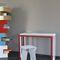 contemporary stool / aluminum / galvanized steel / child's