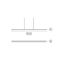 hanging light fixture / LED / linear