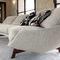 contemporary sofa / fabric / metal / 2-person