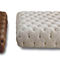 contemporary ottoman / leather / square / indoor