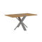 contemporary table / teak / aluminum / rectangular