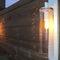 contemporary wall light / garden / aluminum / glass