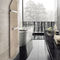 Hot water towel radiator / electrical / vertical / in wood FOLIO CORNER by Perry King & Santiago Miranda Runtal