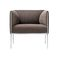 Contemporary visitor armchair / fabric / leather / aluminium ASIENTA by Jehs+Laub Wilkhahn