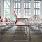Contemporary visitor chair / with armrests / upholstered / stacking SITO by Wiege Wilkhahn