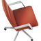 upholstered conference chair / with armrests / star base / adjustable