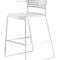 Contemporary bar chair / upholstered / with footrest / with armrests ALINE by Andreas Störiko Wilkhahn
