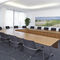 Contemporary conference table / laminate / rectangular / oval LOGON by Andreas Störiko Wilkhahn