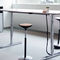 contemporary table / wooden / metal / rectangular