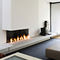 contemporary corner fireplace (gas open hearth) LINE  Waco & C�