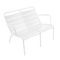contemporary garden double armchair DUO LUXEMBOURG by Frederic Sofia FERMOB