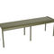 contemporary garden metal bench LUXEMBOURG by Frederic Sofia FERMOB