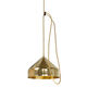 contemporary ceiling light / round / brass / copper