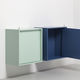 wall-mounted sideboard / contemporary / lacquered wood / custom