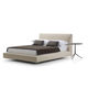 double bed / contemporary / fabric / upholstered