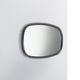 wall-mounted mirror / contemporary / rectangular / round