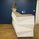 modular reception desk / wooden / metal