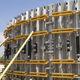 modular formwork / circular / galvanized steel / wall