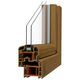 casement window / PVC / double-glazed / acoustic