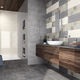 bathroom tile / wall / earthenware / rectangular