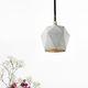 pendant lamp / contemporary / concrete / handmade