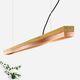 pendant lamp / minimalist design / copper / oak