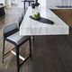 contemporary bar stool / leather / steel / upholstered
