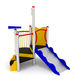 playground play structure / HDPE / stainless steel / galvanized steel