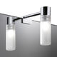 contemporary wall light / bathroom / chromed metal / tubular
