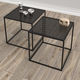 coffee table / contemporary / metal / square