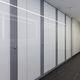 public sanitary facility toilet cubicle / laminate / glass / MDF