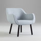 contemporary armchair / fabric / ash