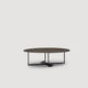 contemporary coffee table / metal / round