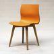 contemporary chair / upholstered / oak / nylon