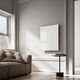 infrared radiator / tempered glass facing / contemporary / rectangular
