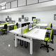workstation desk / contemporary / steel / melamine