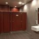 public sanitary facility toilet cubicle / laminate / stainless steel