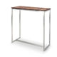 contemporary high bar table / wooden / stainless steel / rectangular