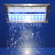 snow shower head / recessed ceiling / rectangular / with built-in light