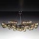 minimalist design chandelier / Murano glass / LED / handmade