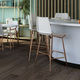 contemporary bar chair / upholstered / with footrest / leather
