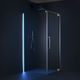 glass shower cubicle / with pivot door