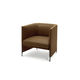 contemporary armchair / fabric / leather / by Luca Nichetto