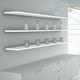 wall-mounted shelf / contemporary / LED