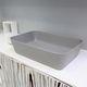 countertop washbasin / rectangular / contemporary