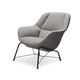 contemporary armchair / fabric / with footrest / contract