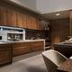 contemporary kitchen / solid wood / walnut / handmade