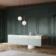 contemporary kitchen / wooden / glass / island