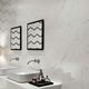wall-mounted tile / porcelain stoneware / matte / marble look